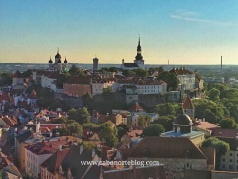 Ciudad Alta desde lo alto de la Iglesia de San Olaf