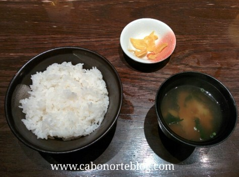 arroz, sopa de miso, encurtidos, comida japonesa, japon