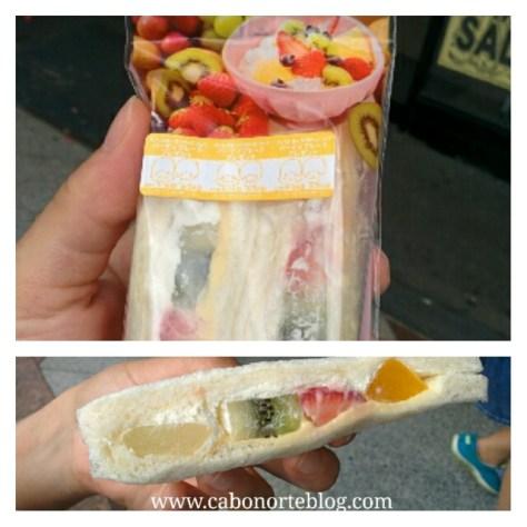 sandwich de fruta, sandwich, japon