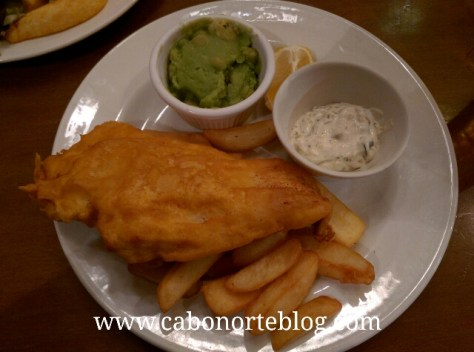fish and chips, pub, london, londres