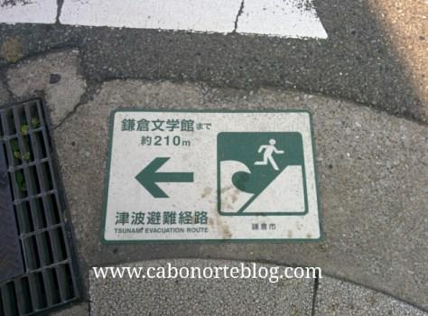 Vía de evacuación en caso de tsunami