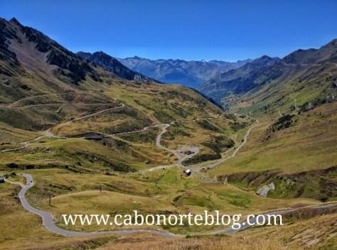 Puerto del Tourmalet en los Pirineos franceses