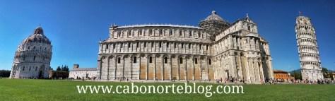 Torre de Pisa, Catedral y Batisterio, pisa, italia