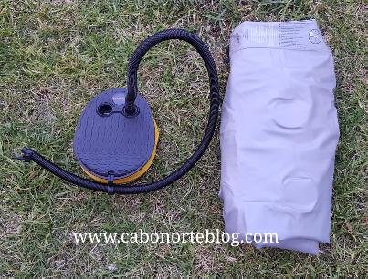 Colchón inchable de camping e inflador