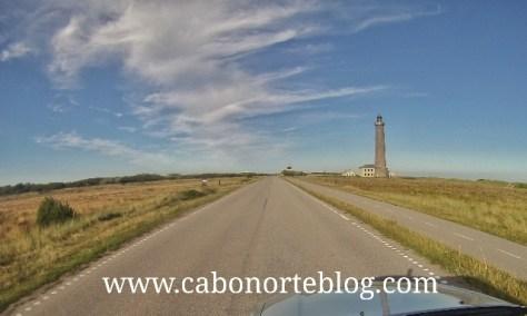 Carretera en el Norte de Dinamarca