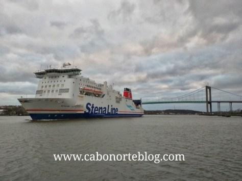 Llegando a Suecia en Ferry desde Dinamarca, stenaline