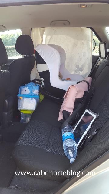 En el coche...