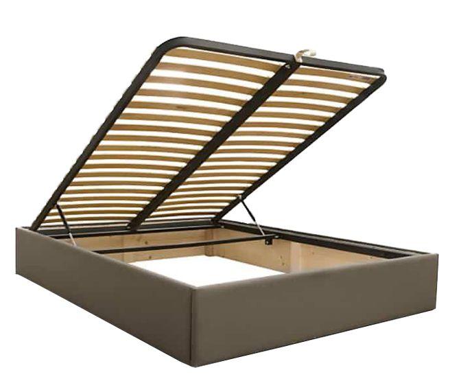 lit coffre sans tete de lit existe en plusieurs tailles de couchage 90 12 140x190cm 160 180x200cm en tissu nubuck taupe