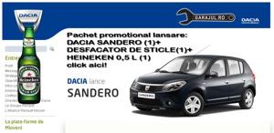 Pachet promotional Dacia Sandero