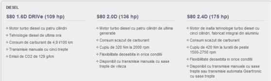 Volvo S80 engine