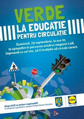 Verde la educatie pentru circulatie - LIDL