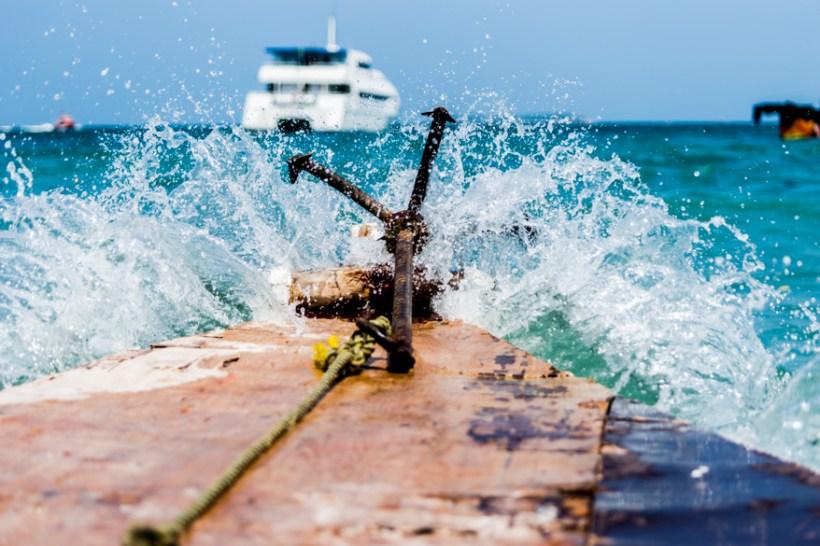 Tanzania Zanzibar water splash boat (1 of 1)