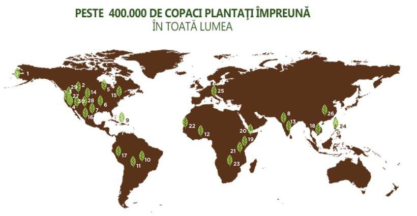 peste 400.000 de copaci plantati
