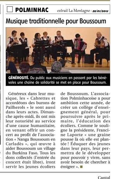 Extrait La Montagne 28/01/2013