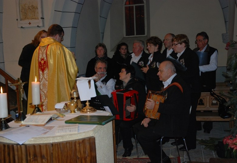 Messe de Noël à Pailherols.