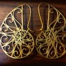 1-spiral filigree earrings bronze (5)