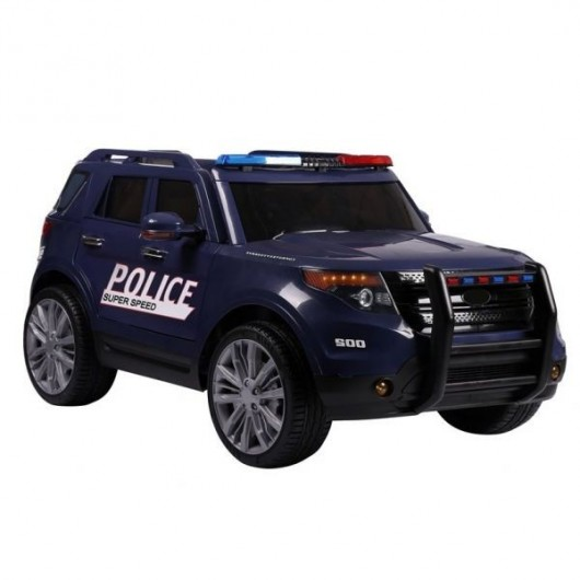 voiture electrique 12v police bleue pack luxe