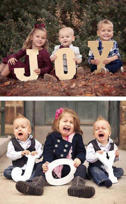 Expectativa vs realidad en fotos de niños pequeños9