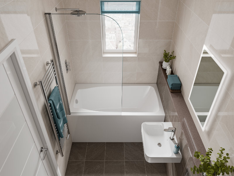 Space Saving Bath | The Studio - Deep, Comfortable and Compact on Small Space Small Bathroom Ideas With Tub id=40869
