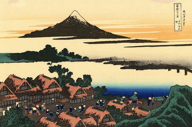 japanese village-mount-fuji