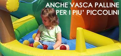 CANGUROTTO - Castello gonfiabile con scivolo gonfiabile de vasca palline