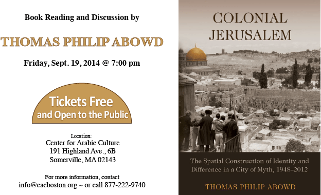 Thomas Philip Abowd Book Reading
