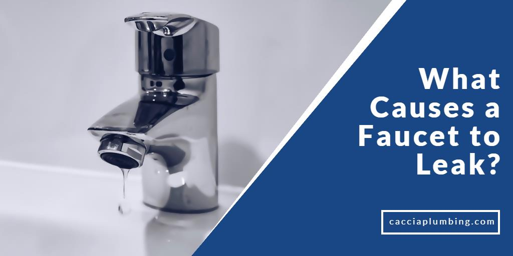 what causes a faucet to leak caccia