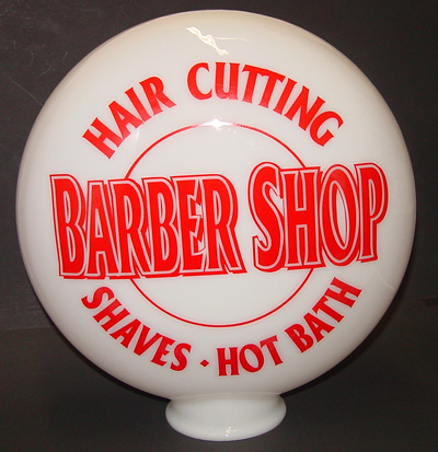 Barber Pole Parts Canteen Glass Globe 12 With 4 Opening