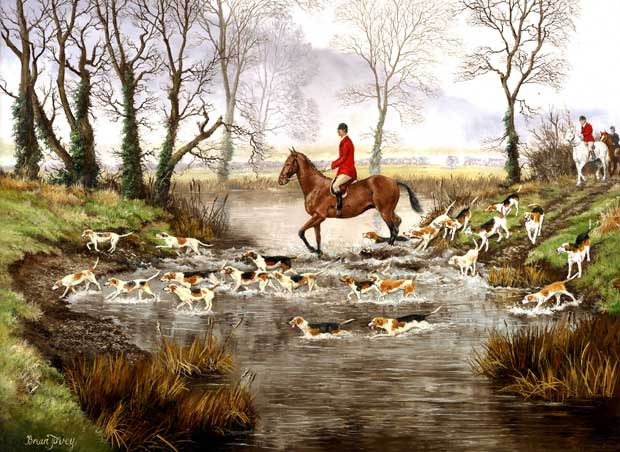 Fox Hunting Picture Print On The Scent By Artist