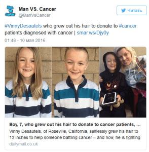 Diagnostican cáncer a un niño que donaba su pelo a los que sufren la enfermedad