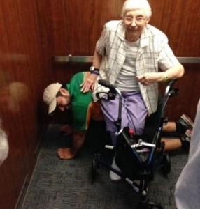 El ascensor se bloqueó