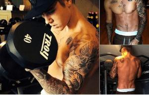 Justin Bieber haciendo ejercicio sorprendió a más de una