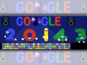 Google inicia el 2014 con simpático doodle fiestero