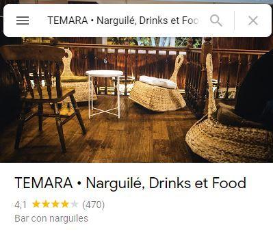 Temara Narguile foods et drink