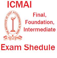 ICMAI Final exam schedule