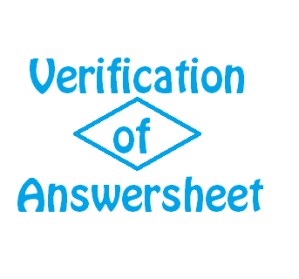 verification of cs answersheets