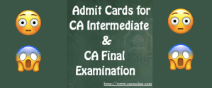 icai ca final ipcc admit card