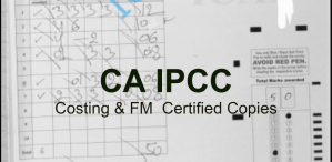 CA IPCC Costing & FM Certified Copies