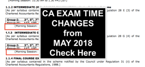 new ca exam times may 2018