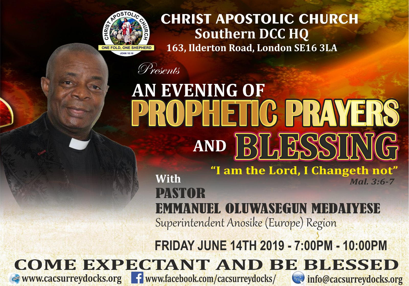 An Evening of Prophetic Prayers and Blessing – Christ