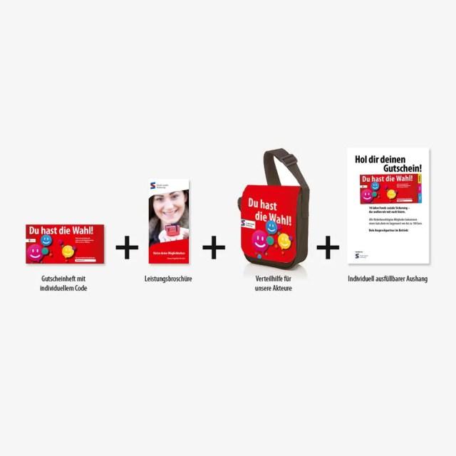 Fonds soziale Sicherung: Entwicklung eines Promo-Pakets zu einer Gutscheinaktion