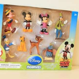 8 piece Disney Figurines Assorted