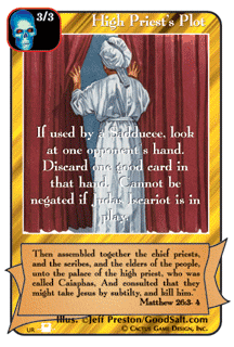 High Priest's Plot card from Redemption The Card Game