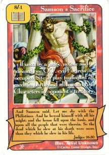 Samson's Sacrifice card from Redemption The Card Game