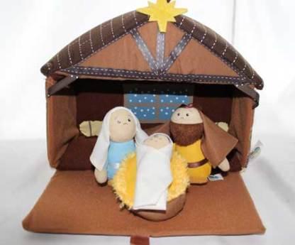 Nativity Plush closeup bible toys and games