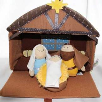 Nativity Plush closeup bible toys and games
