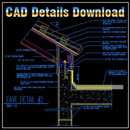 Ridge Eave & Parapet Details,Ridge Eave,Parapet Details,Ridge Eave & Parapet Design ,CAD drawings downloadable in dwg files