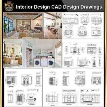 ★【Interior Design CAD Design,Details,Elevation Collection】Residential Building,Living room,Bedroom,Restroom,Decoration@Autocad Blocks,Drawings,CAD Details,Elevation