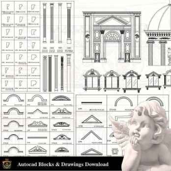【Neoclassical Style Decor CAD Design Elements V.3】