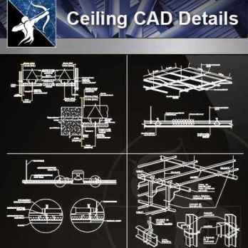 【Architecture CAD Details Collections】Ceiling Design CAD Details V.1